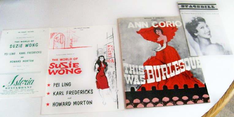 1960s Susie Wong & Burlesque Stagebills & Programs (5 Items)